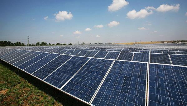 Солнечная электростанция в Крыму. Архивное фото