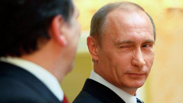 Владимир Путин и Жозе Мануэл Баррозу. Архивное фото