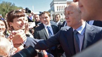 Рабочий визит В.Путина в Горно-Алтайск. Архивное фото