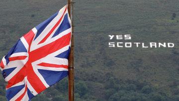 Надпись в поддержку независимости Шотландии в Западном Белфасте