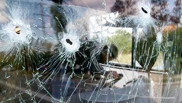 Последствия обстрела Донецка. 16 сентября 2014. Архивное фото