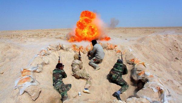 Учения шиитских боевиков, присоединившихся к иракской армии