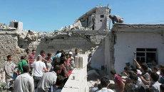 Последствия обстрела Сирии боевиками ИГ, архивное фото