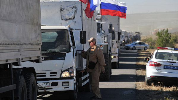 Гуманитарная колонна на Юго-Восток Украины
