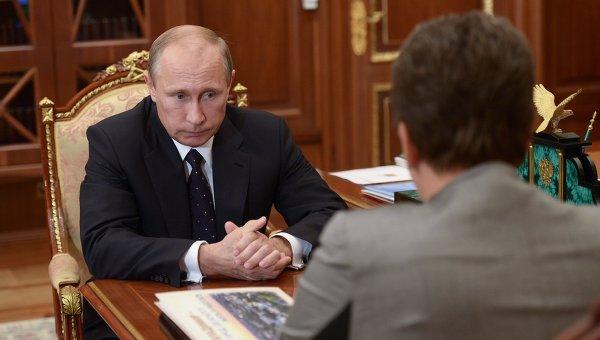 В.Путин встретился с С.Орловой