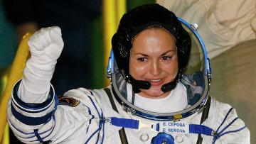 Член основного экипажа транспортного пилотируемого корабля Союз ТМА-14М, космонавт Роскосмоса Елена Серова. Архивное фото