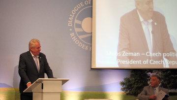 Президент Чехии Милош Земан. Архивное фото.