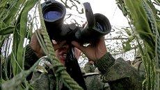 Военные учения на полигоне Балтийского флота в Калининградской области. Архивное фото