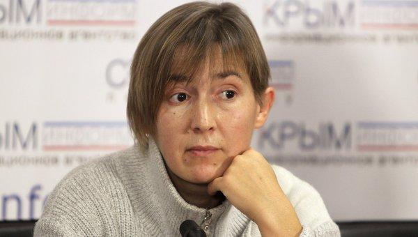 Пресс-конференция журналистки Анны Моховой, освобожденной из украинского плена