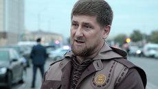 Глава Чечни Рамзан Кадыров на месте взрыва в Грозном. Архивное фото