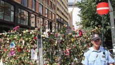 Разрушенное после теракта здание правительства в центре Осло