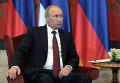 16 октября 2014. Президент России Владимир Путин во время встречи президентом Сербии Томиславом Николичем в Белграде