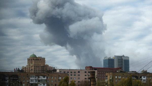 Обстрел Донецка. Архивное фото