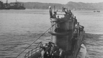 Немецкая подводная лодка U-576. Архивное фото.