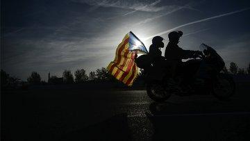 Акции в Барселоне в поддержку референдума о независимости Каталонии. Архивное фото