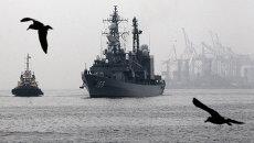 Эсминец Хамагири Морских сил самообороны Японии, прибывший в бухту Золотой Рог