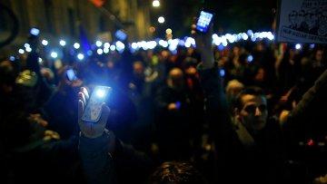 Протест против налога на интернет в Будапеште