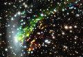 Космическая катастрофа в спиральной галактике ESO 137-001