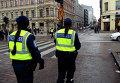 Финская полиция на улице Хельсинки