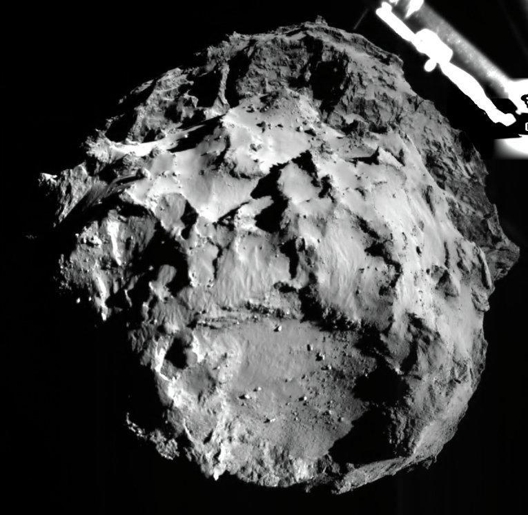 Фотография поверхности кометы Чурюмова-Герасименко, сделанная модулем Фил при посадке. 12 ноября 2014