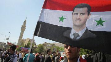 Митинг в поддержку президента Башара Асада в Дамаске, архивное фото