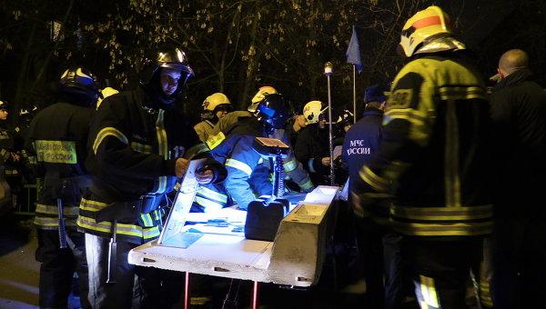 Ликвидация возгорания в жилых домах Москвы, произошедшего из-за скачка давления газа