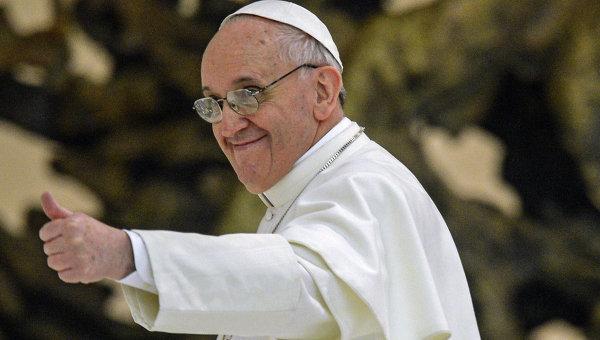 Встреча Папы Римского с журналистами. Архивное фото