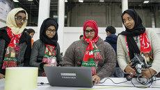 Участники всемирной олимпиады по робототехнике в Сочи