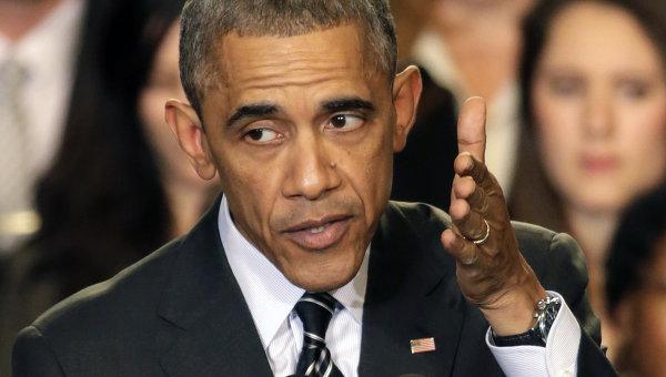 Президент США Барак Обама отвечает на вопросы журналистов, связанные с протестами в Фергюсоне
