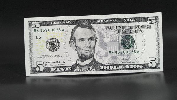 Пятидолларовая купюра. Архивное фото