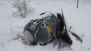 На месте крушения малайзийского Boeing 777 в окрестностях деревни Грабово недалеко от Шахтерска в Донецкой области