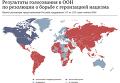 Результаты голосования в ООН по резолюции о борьбе с героизацией нацизма