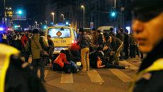 Полиция на месте проишествия на набережной Бунд