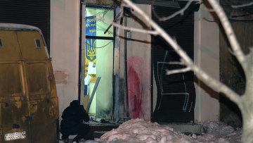 Взрыв в Одессе у волонтерского центра