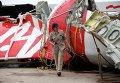 Найденные обломки хвостовой части лайнера AirAsia