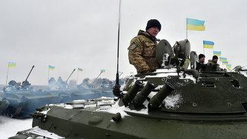 Украинские военнослужащие на военной базе. Архивное фото