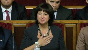 Глава Минфина Украины Наталия Яресько. Архивное фото.