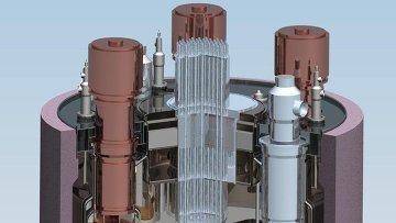 Схема атомного реактора на быстрых нейтронах БН-1200. Архивное фото