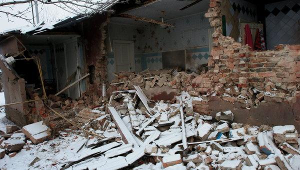 Последствия обстрела Донецка украинскими силовиками, архивное фото