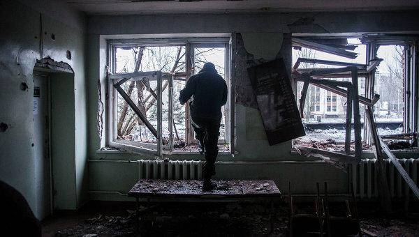 Больница в Донецке после обстрела украинской артиллерией