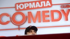 Резидент Comedy club Гарик Мартиросян на презентации фестиваля Неделя высокого юмора от Comedy Club в Юрмале