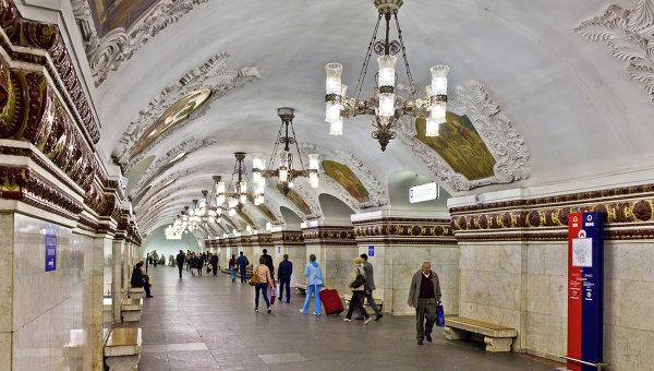 Станция метро Киевская Арбатско-Покровской линии Московского метрополитена. Архивное фото