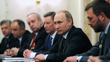 Президент РФ В.Путин встретился с представителями ветеранских организаций