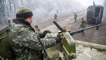 Колонна украинских военнослужащих, архивное фото