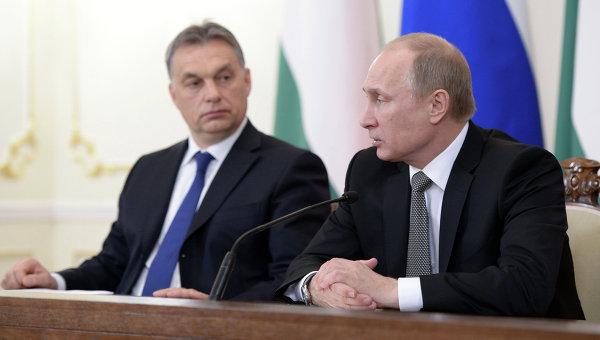 Президент РФ Владимир Путин и премьер-министр Венгерской Республики Виктор Орбан