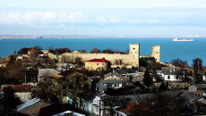 Вид на город Феодосия. Архивное фото