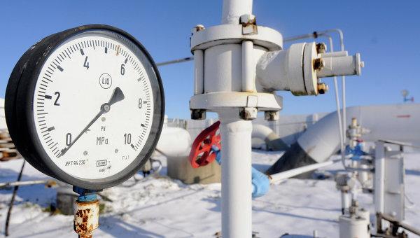 Манометр газа на магистральном газопроводе из России в селе Боярка. Архивное фото