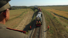 Поезд в Северной Корее. Архивное фото