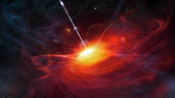 Так художник представил себе квазар
