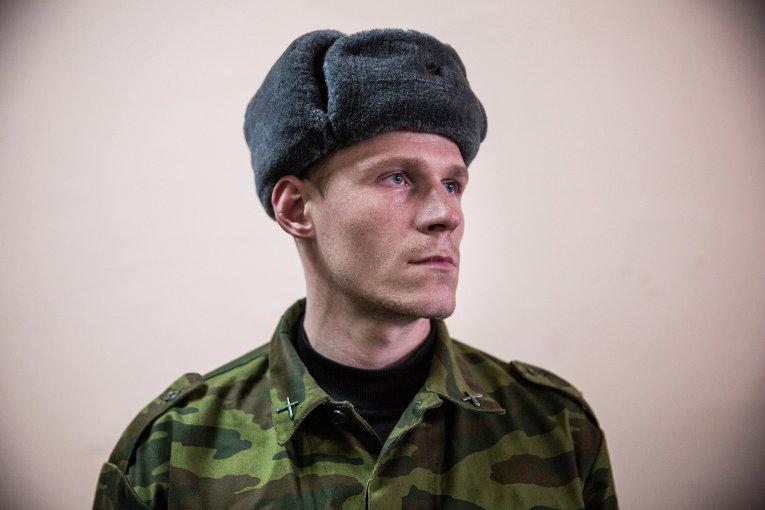 Ополченец в штабе батальона Кальмиус в Донецке